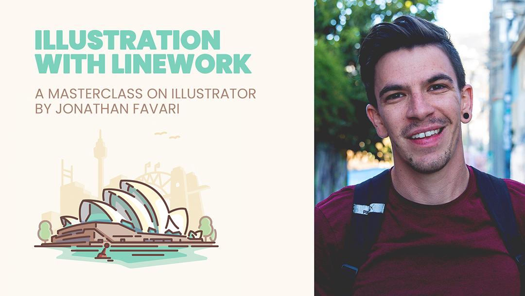 Illustration with Linework