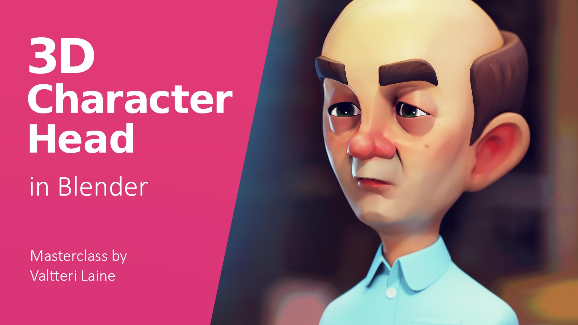 3D Character Head in Blender